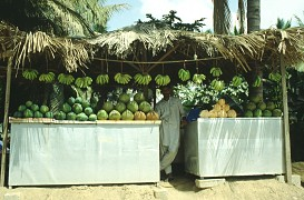Fruchtsaftstand in Salalah